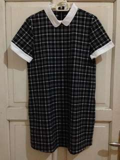 Zara stripe collar dress