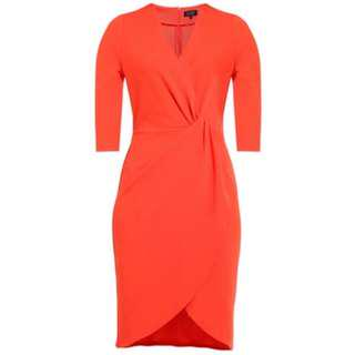 BNWT  ZALORA Crossover Dress  #50under