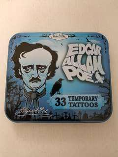 Edgar Allan Poe Temporary Tattoos