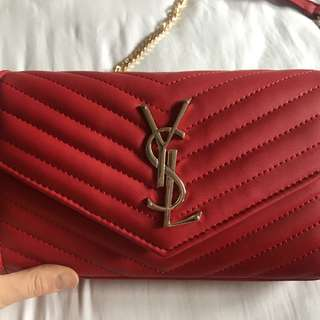 YSL Red Handbag / Purse