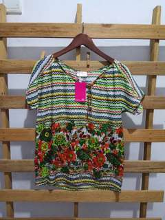 New patch woman blouse