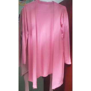 Cardigan lengan panjang Pink