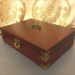 越南紅木首飾盒復古中式木盒A4收納盒文件盒