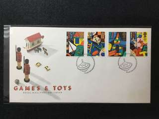 1989 Great Britain Europa- Games & Toys  First Day Cover ( No Description Card)