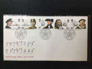 1982 Great Britain Maritime Heritage  First Day Cover (No Description Card)