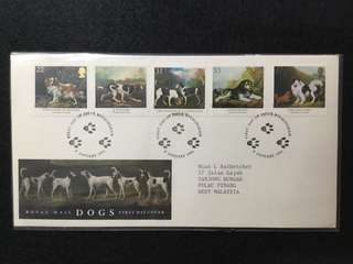 1991 Great Britain- Dogs, Paintings By George Stubbs First Day Cover