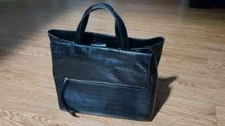 Crocodile skin alike Tote Bag