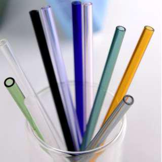 (In stock)Reusable Straight Pyrex Glass Drinking Straw