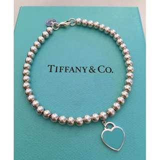 原價$1400 Return to Tiffany 串珠心型手鍊 bracelet