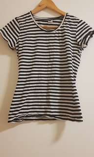 B+W Stripe Top