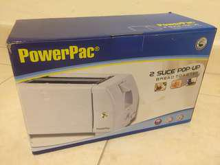 Powerpac 2 slice pop-up bread toaster ppt02 750w