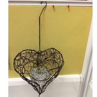 Heart shaped candle (Hanging)