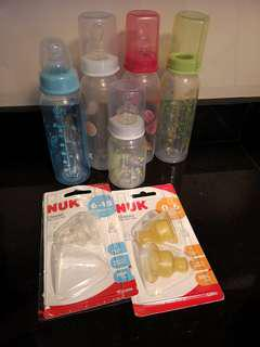 Milk Bottles & bottle teats