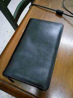 Long large leather wallet