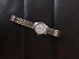 Silver Timex watch