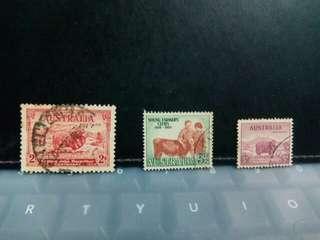 Set of 3 Australia Stamps