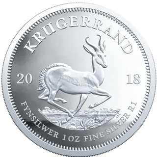 2018 1 oz 南非富格林999精鑄銀幣  2018 1 oz SOUTH AFRICA KRUGERRAND .999 SILVER PROOF COIN