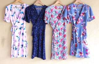Rosy Overlap Dress