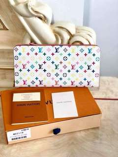 LV Multicolor Insolite Wallet Blanc White