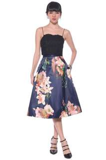 BNWT Love Bonito Sadocia Floral Midi Skirt