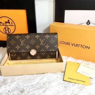 LV Monogram Canvas Flap Wallet