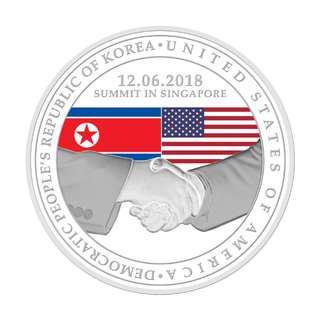 [1st Issue] United States - North Korea Summit 2018 1 oz 999 Fine Silver Proof Medallion
