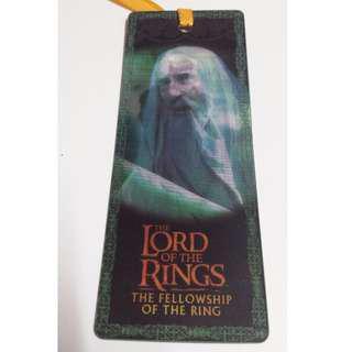 Lord of the Ring the fellowship of the ring 魔戒首部曲:魔戒現身 saruman  白袍薩魯曼 絶版3D書籤