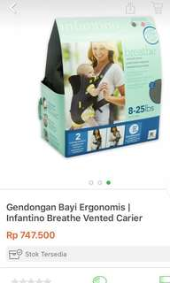Gendongan Infantino breath