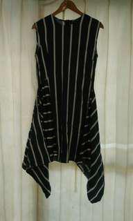 Fuzo Stripe Dress Blue