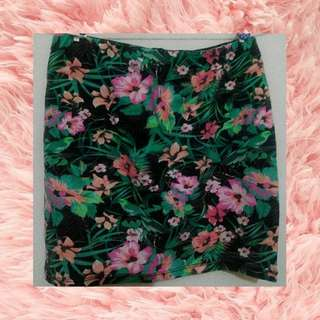 Tropical skirt bershka