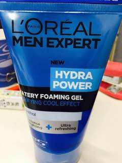 L'Oreal Men Expert (New Hydra Power) Watery Foaming Gel Purifying Cool Effect 巴黎萊雅專業男仕水能量保濕潔面露