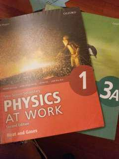 Oxford New Senior Secondary Physics at work Textbooks 1 and 3A
