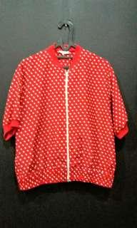 Blus polka merah