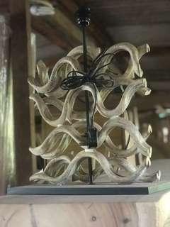 Chandelier wood root design