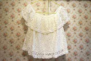 Sixty Eight 白色lace兩著上衣