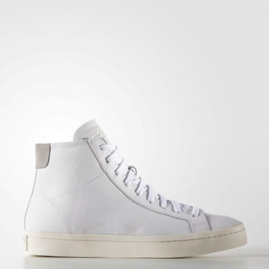 Adidas court vantage mid white/white