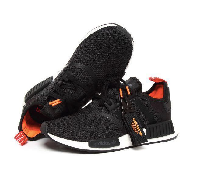 106d936fd Adidas Originals NMD R1 B37621 Black   Solar Orange