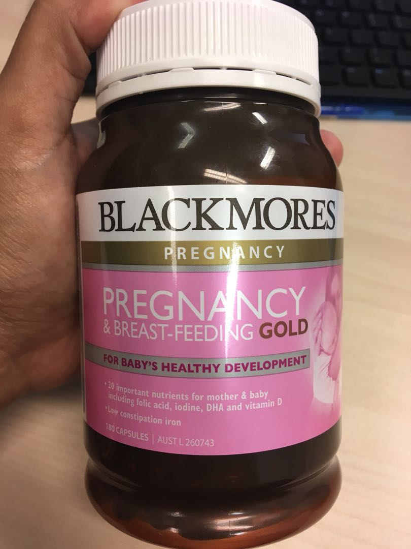 Blackmores Pregnancy Breast Feeding Gold Dha Multi Vitamin Babies Kids Nursing On Carousell