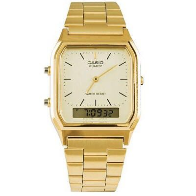 d0c57266248 Bn Casio gold tone vintage Watch AQ-230GA-9