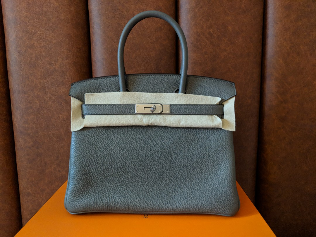 BNIB Authentic Hermes Birkin 30 in Etain Clemence Leather and PHW ... aba3bae1ef36f
