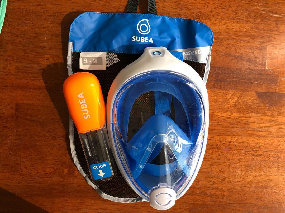 97cf576fa Decathlon full face snorkel set