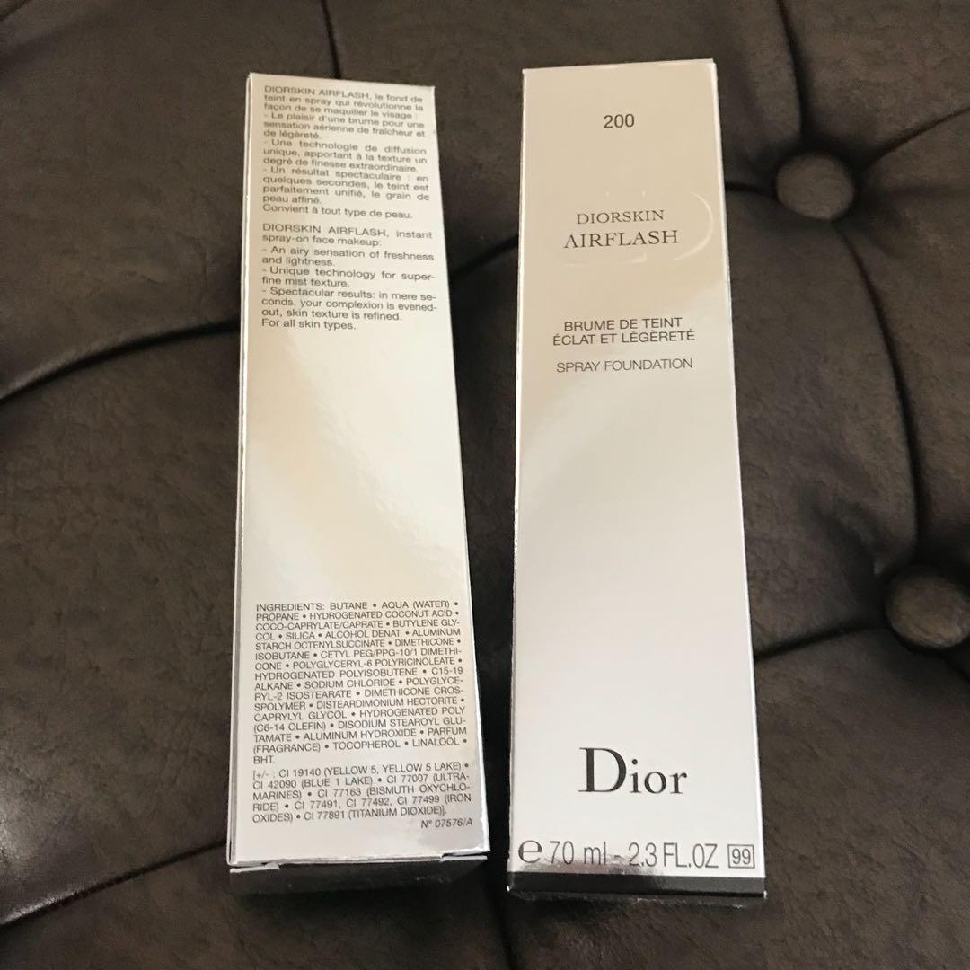 Dior Air Flash Foundation Shade 200 light beige