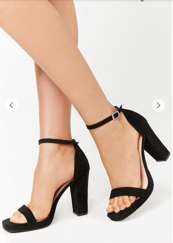 28e5a897448 Forever 21 Faux Suede Ankle-Strap Heels