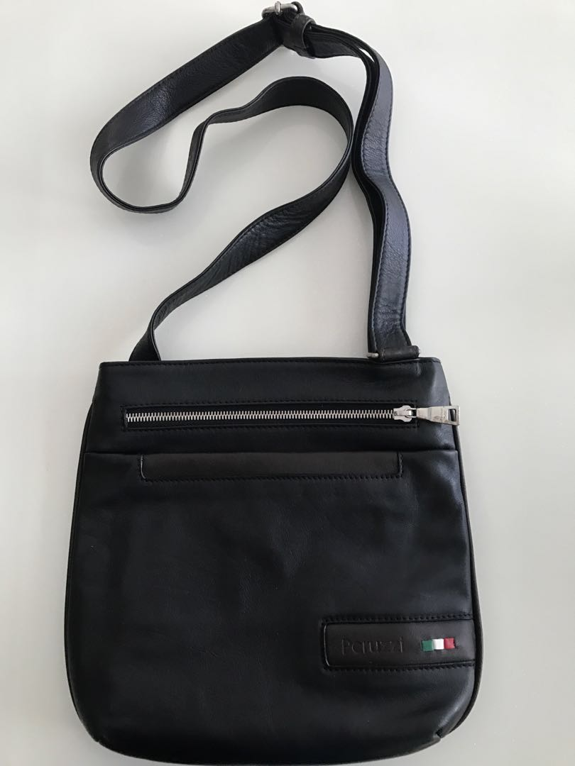 5f55e2512740 Italian leather sling bag made by Peruzzi In Florence Italy