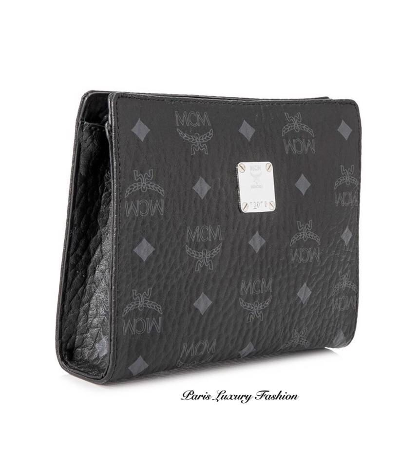 a18231388 MCM Visetos Original Zip Pouch, Luxury, Bags & Wallets, Clutches on ...