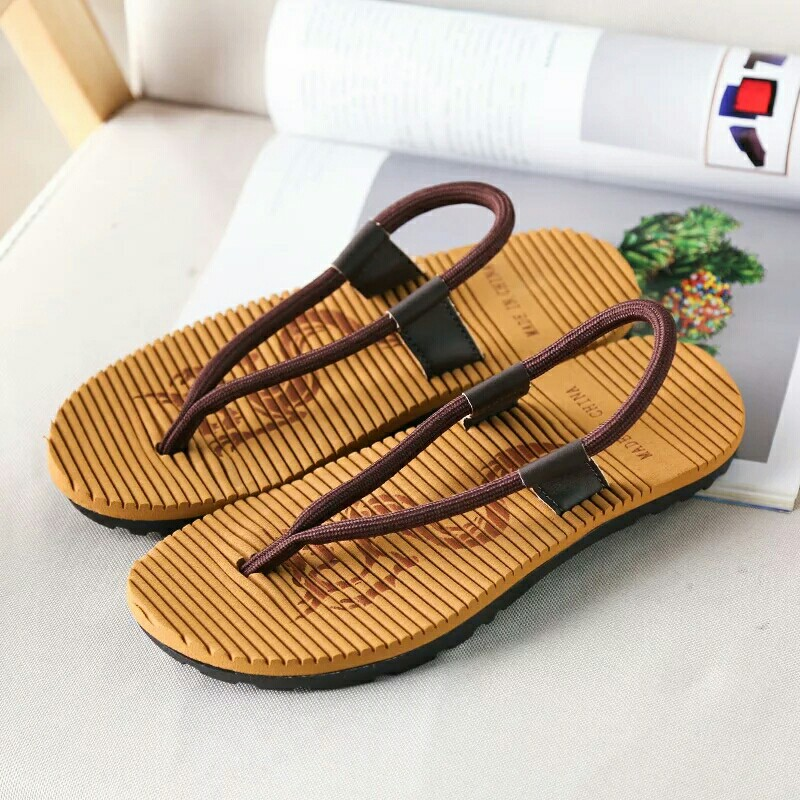5a9d97b6f Men Slippers for Man Flip Flops Real Leather Shoes Summer Beach Shoes Male  Breathable Slippers Light Shoes Fashion Casual Shoes