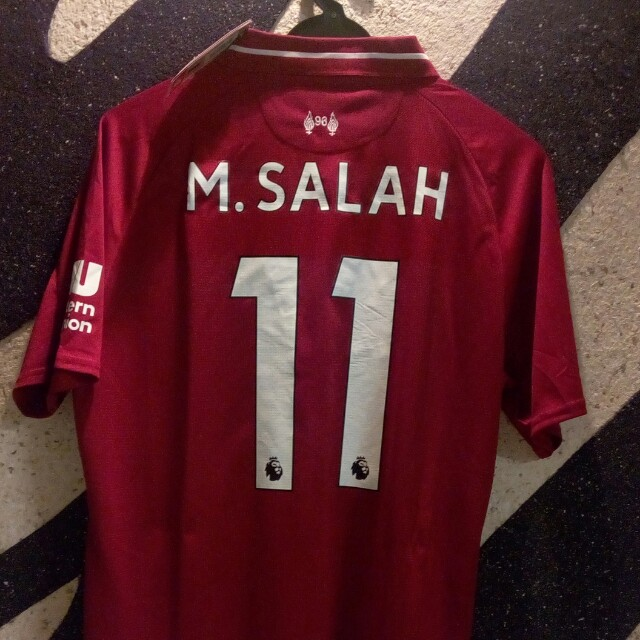 reputable site 95634 f1425 Mohamed Salah Liverpool 2018/2019 Home Kit