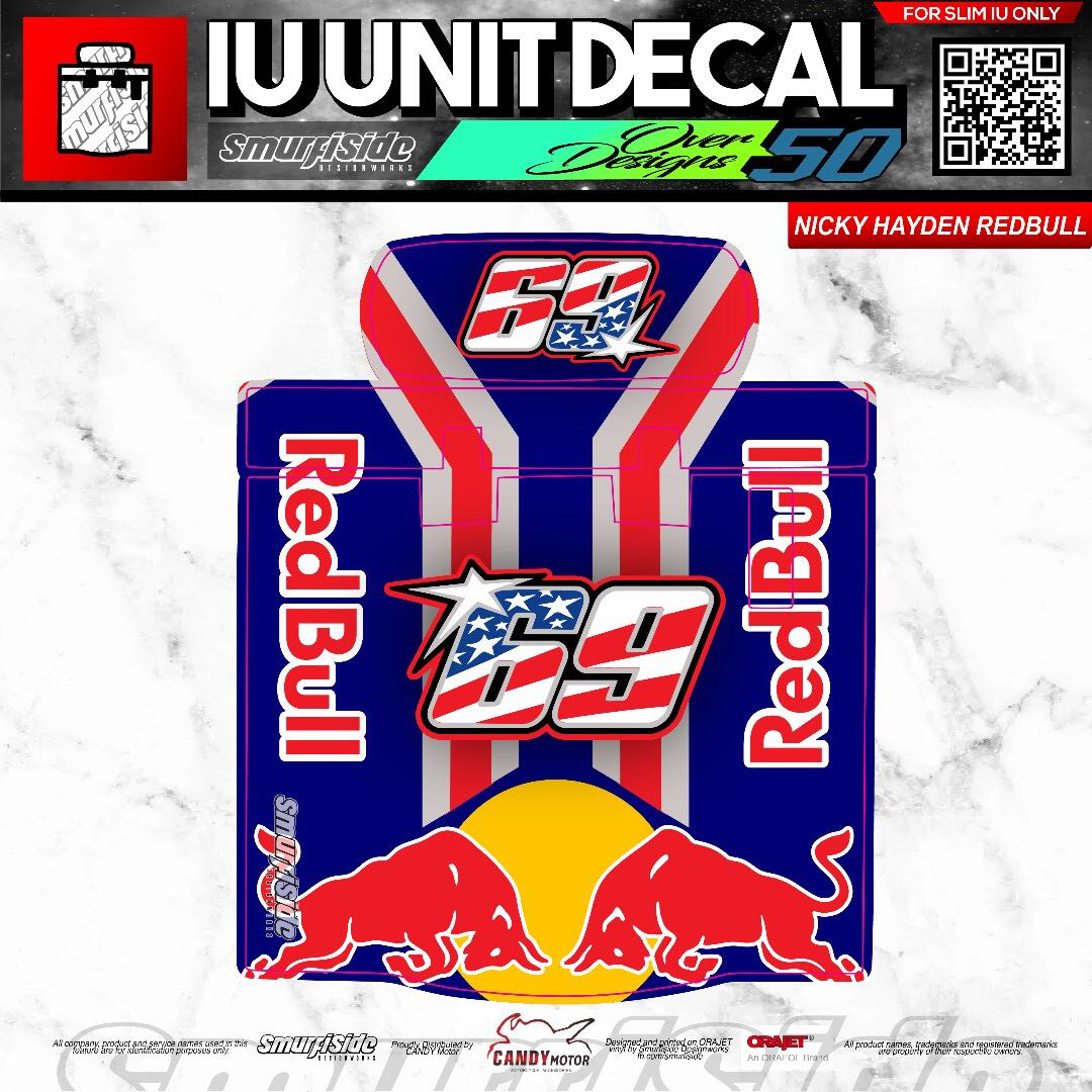 Nicky hayden redbull motorcycle slim iu unit decal motorbikes motorbike accessories on carousell