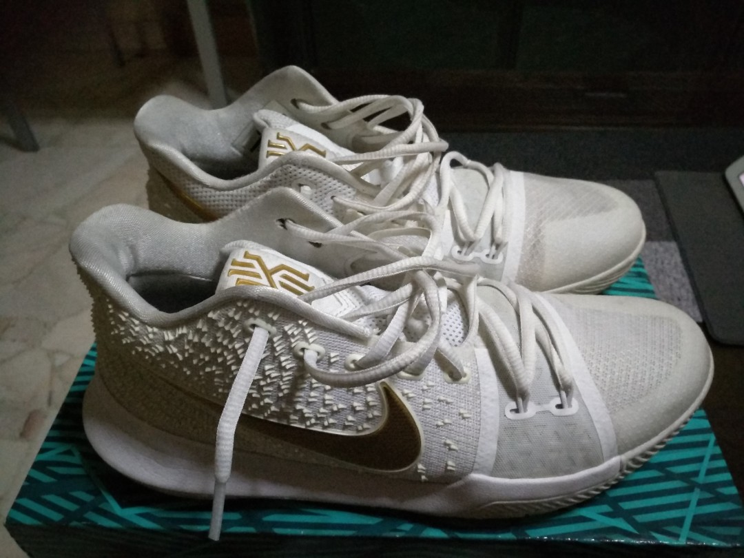 best website 1fae6 af232 Nike Kyrie 3 white gold, Men s Fashion, Footwear, Sneakers on Carousell