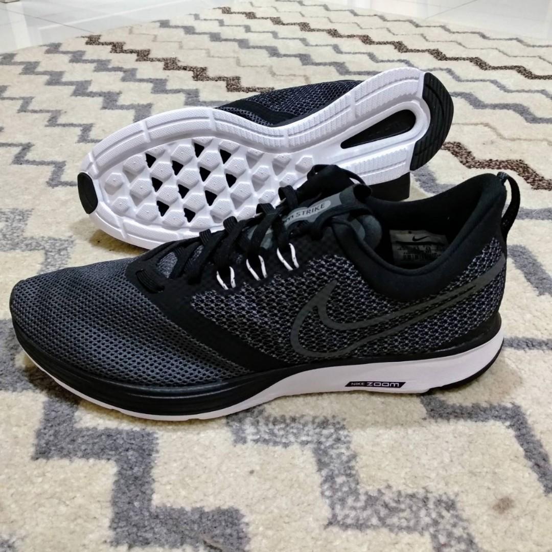 acb2bc805 Nike Zoom Strike Black Gray Running Shoes